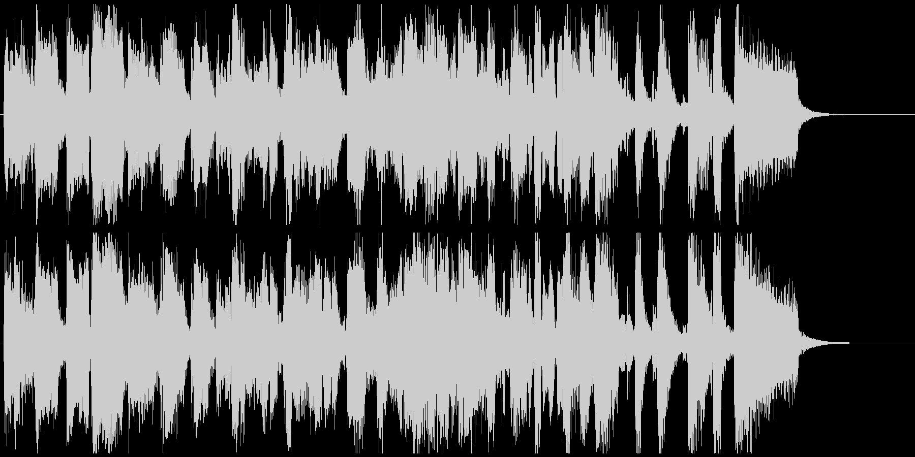 ストレートアヘッドな15秒CM用ジャズの未再生の波形