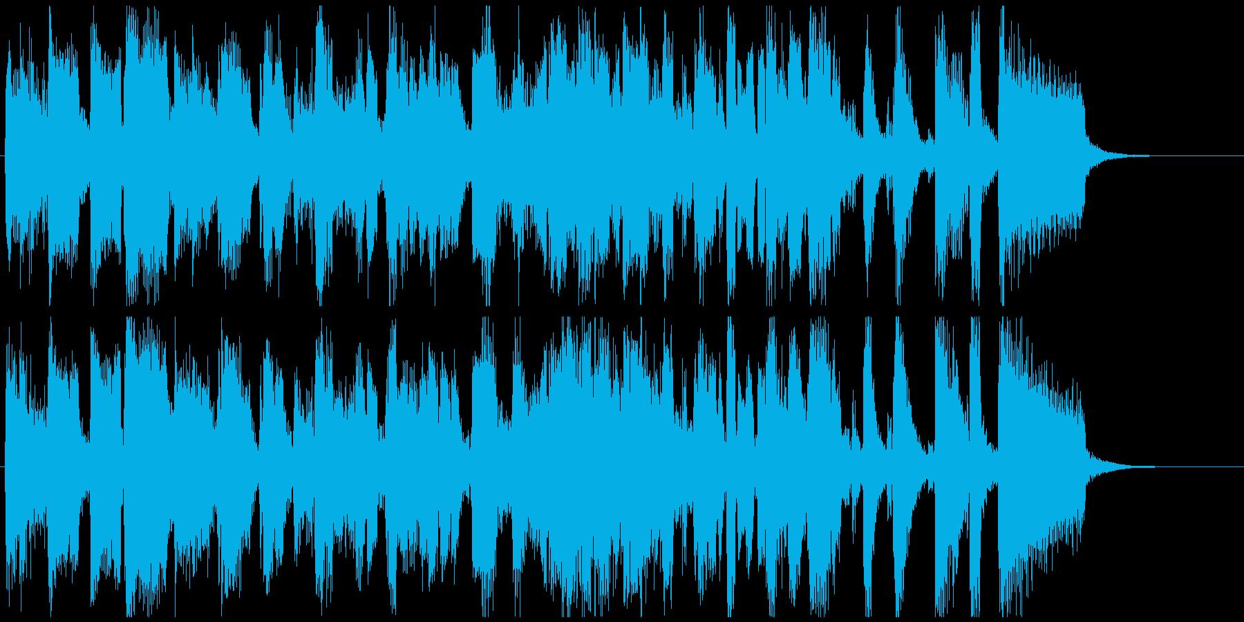 ストレートアヘッドな15秒CM用ジャズの再生済みの波形