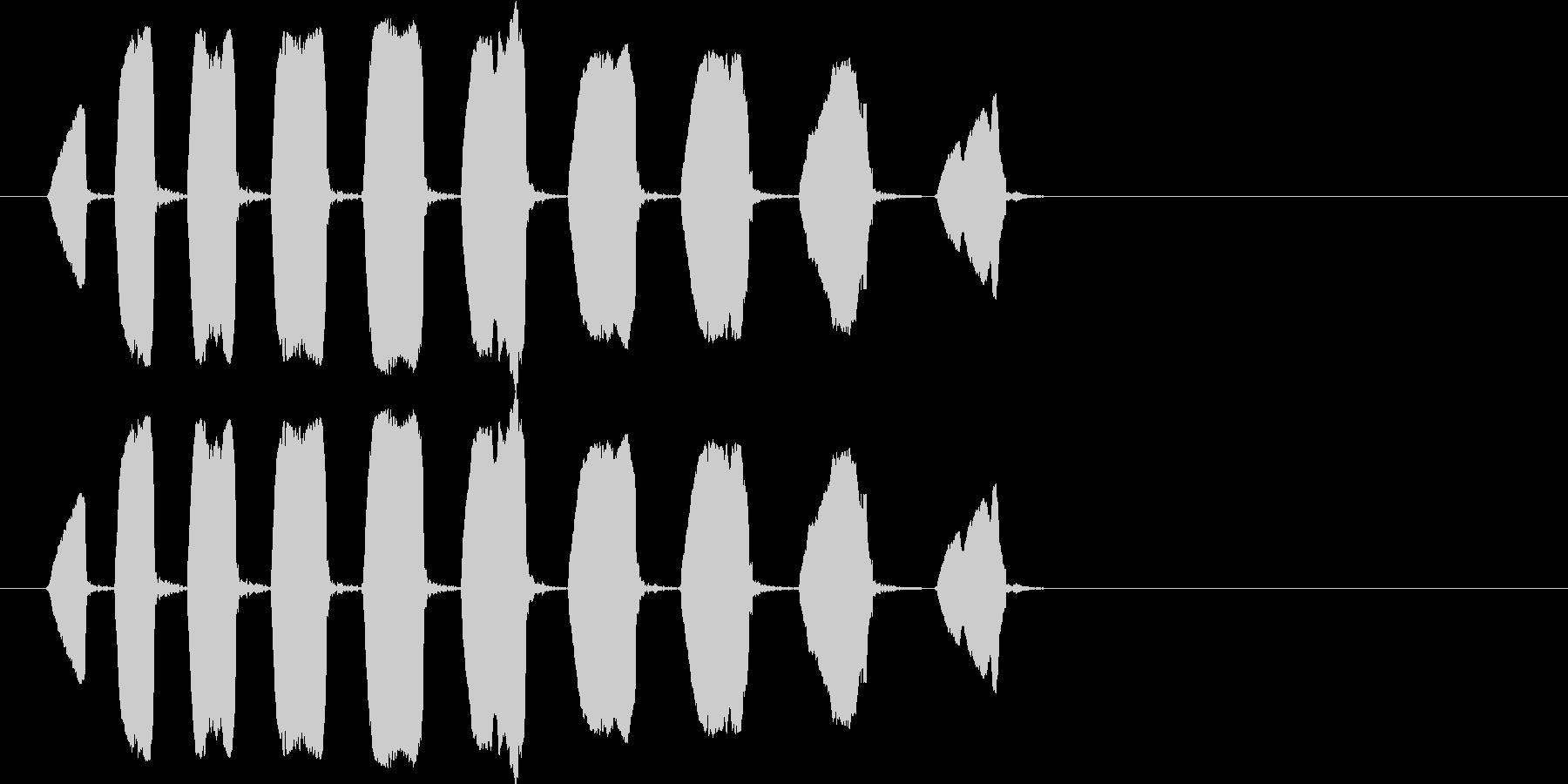 猿、鳴き声、ピープ。ハイピッチ、ラ...の未再生の波形