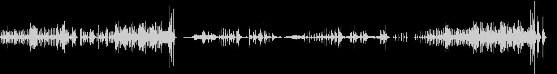 ギターと弦のピチカートで描いた情景の未再生の波形