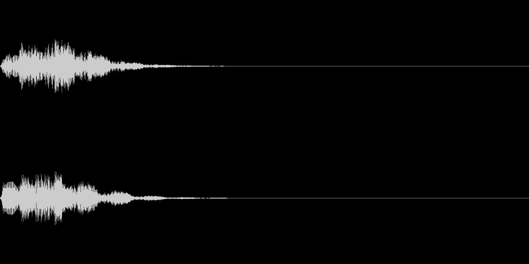 ピロリロン ゲームアプリ起動音スタート音の未再生の波形