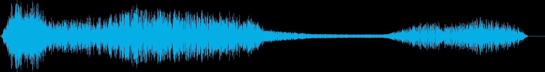 プーマ(クーガー)うなり声。長く引...の再生済みの波形