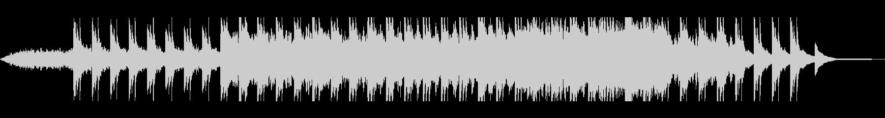ピアノとシーケンサーのヒーリングの未再生の波形