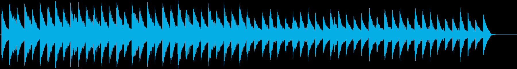 回想、戸惑い、振り返り、冷静、ピアノ曲の再生済みの波形
