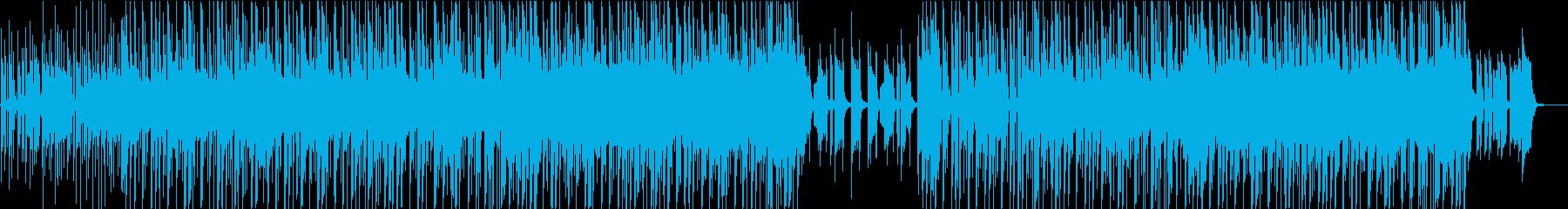 タイムラプス映像向けヒップホップの再生済みの波形