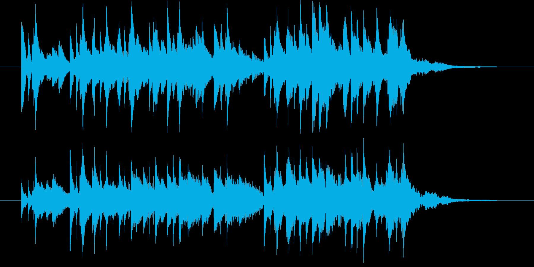 秋の気配を感じる和風ピアノ30秒CM等にの再生済みの波形