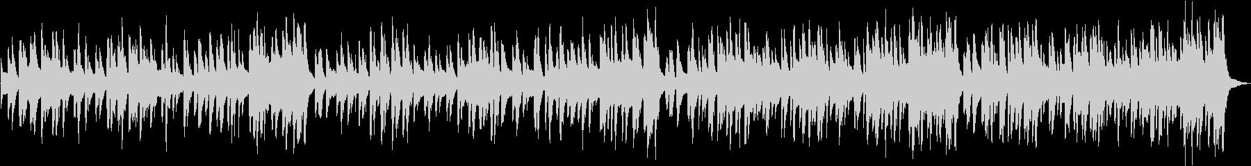 ホンキートンクピアノのかわいいラグタイムの未再生の波形