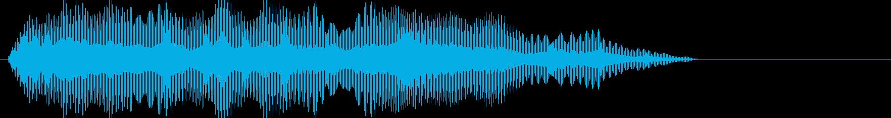 ブ~ン..。蚊やハエの羽音(高・短)の再生済みの波形