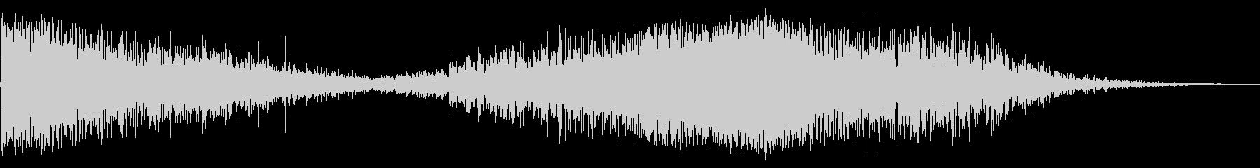 ホローグリッティインパクトアンドランブルの未再生の波形