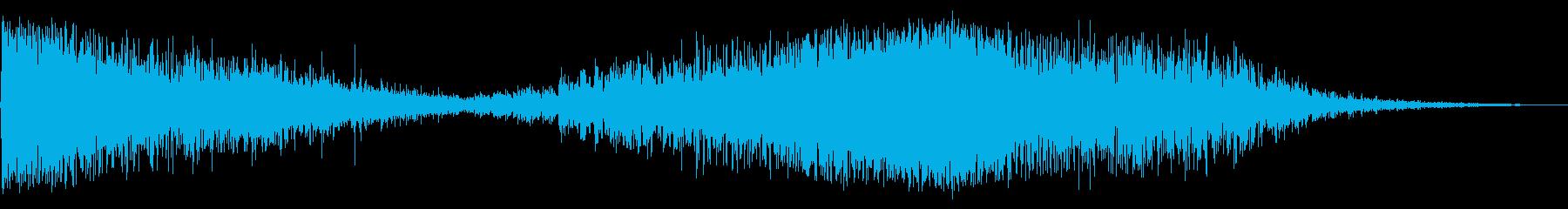 ホローグリッティインパクトアンドランブルの再生済みの波形