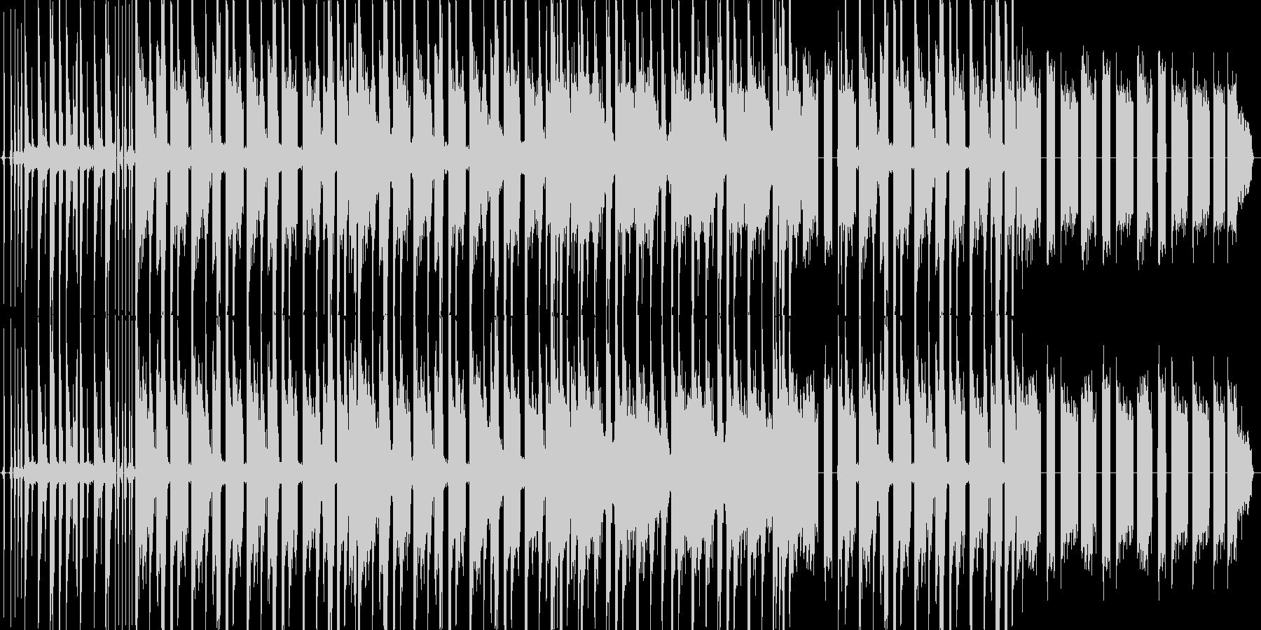 アングラで悪い感じのヒップホップトラックの未再生の波形