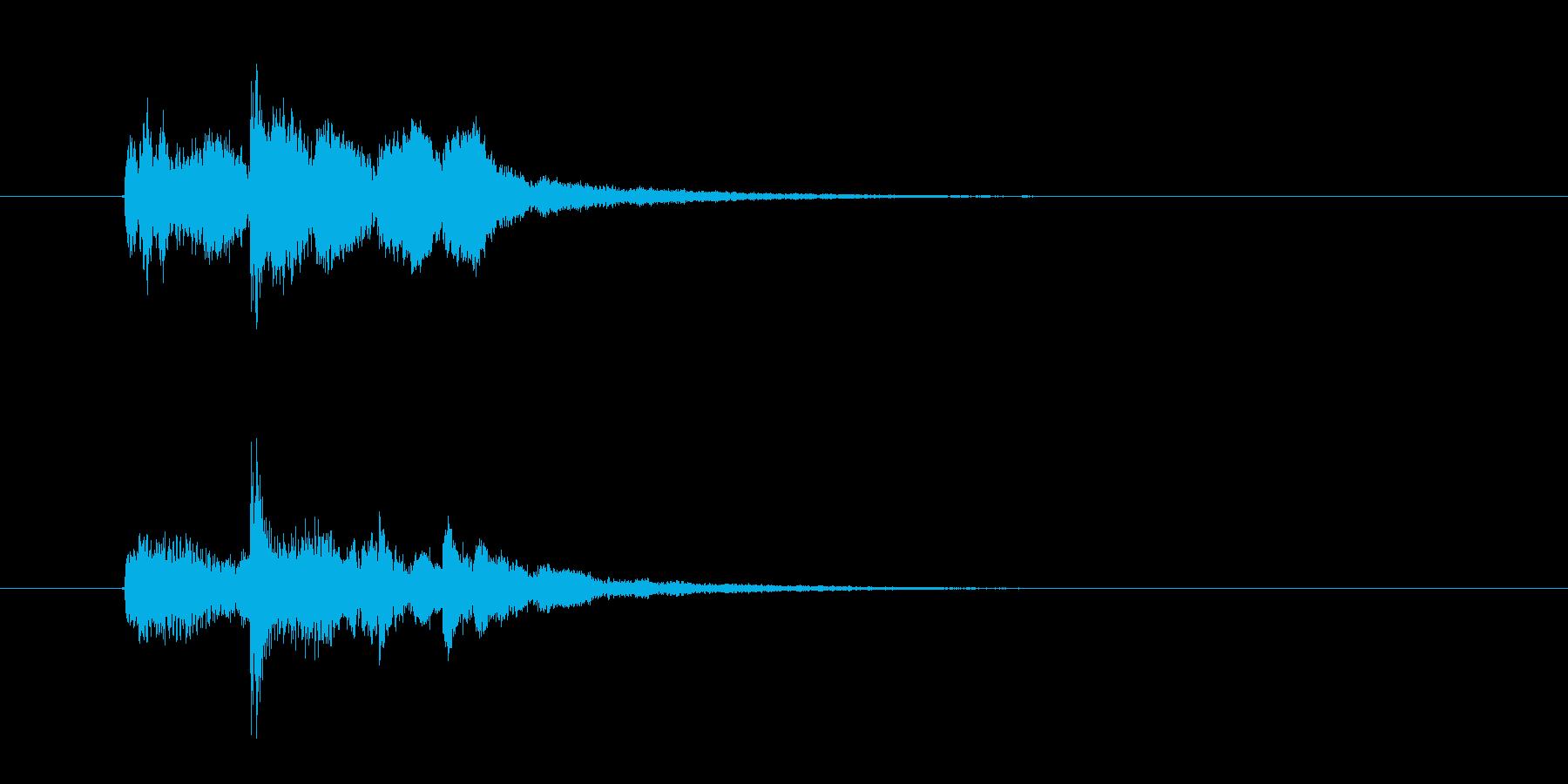 幻想的で落ち着いた雰囲気の音楽の再生済みの波形