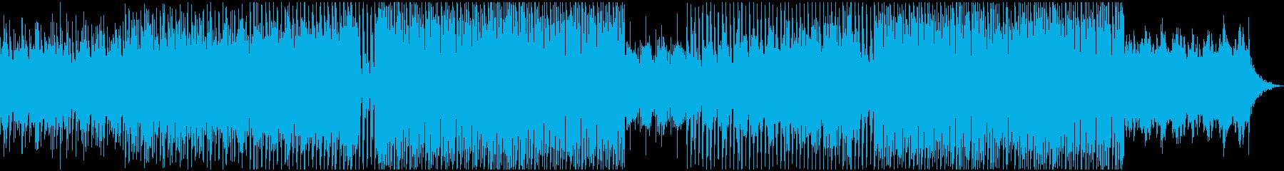 YouTube、映像のエンディングEDMの再生済みの波形