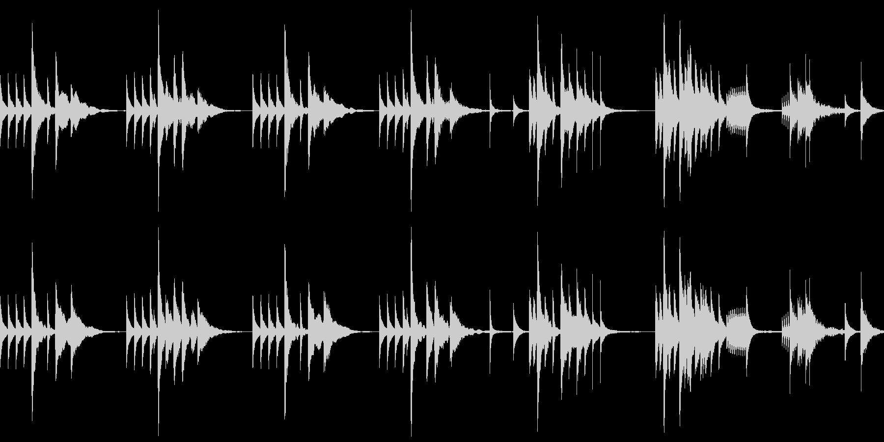 ループ仕様 怪しいジャズなグルメ番組風の未再生の波形