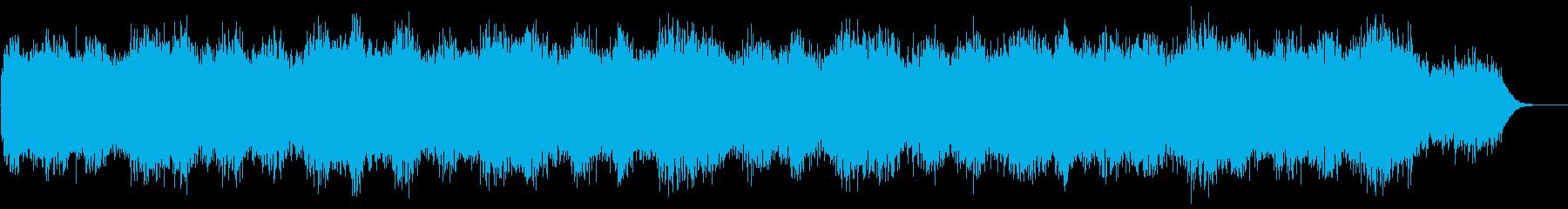 星空をイメージするリラクゼーション音楽の再生済みの波形