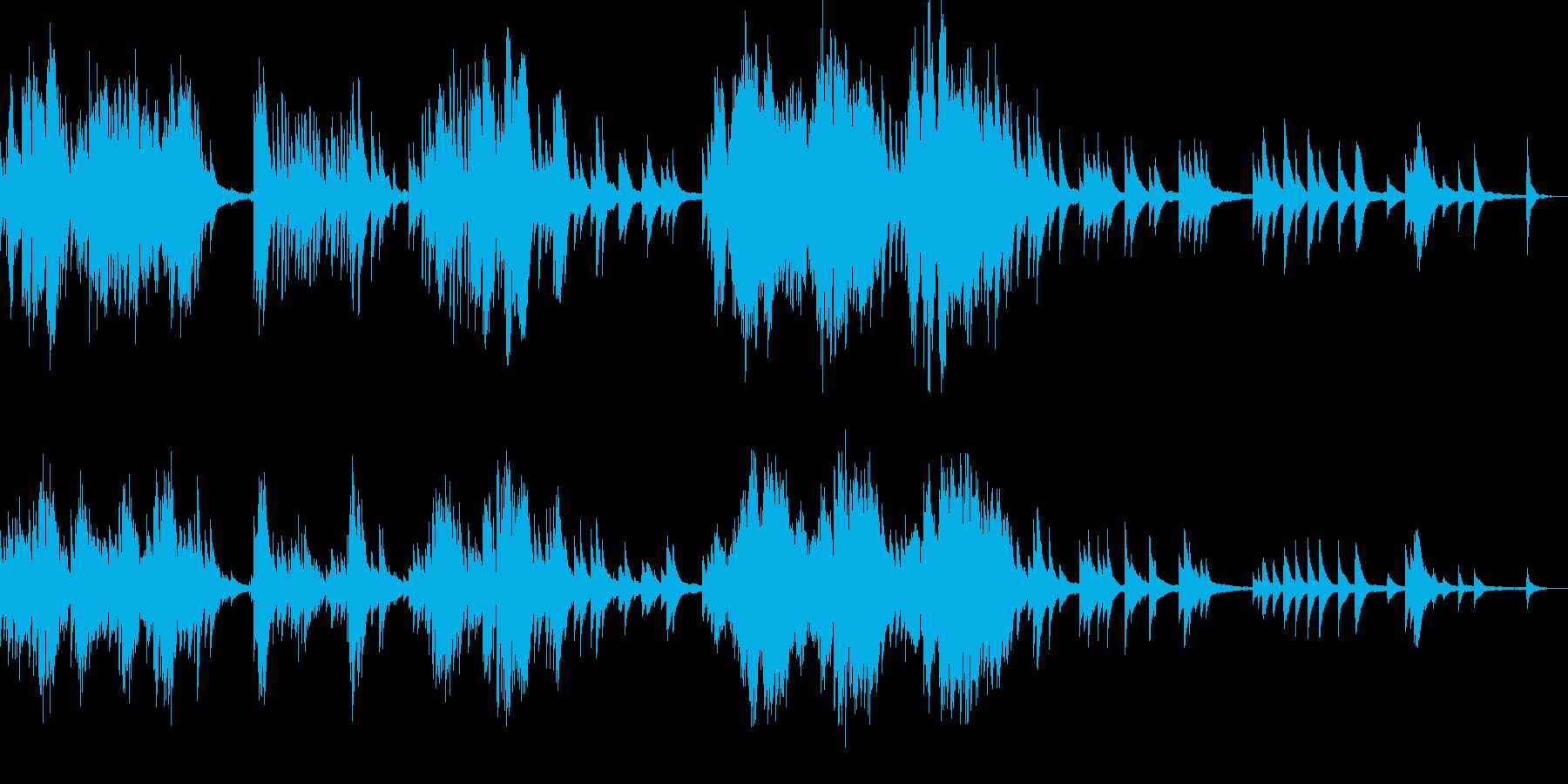 切なく情熱的な雰囲気のピアノサウンドの再生済みの波形