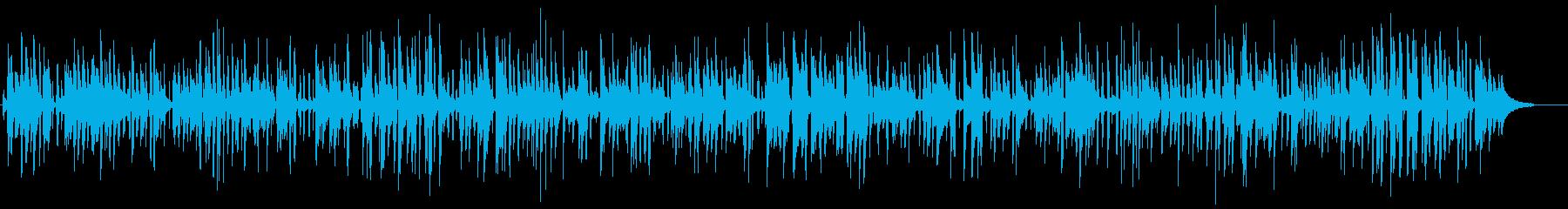 おしゃれなピアノトリオのジャズライブの再生済みの波形