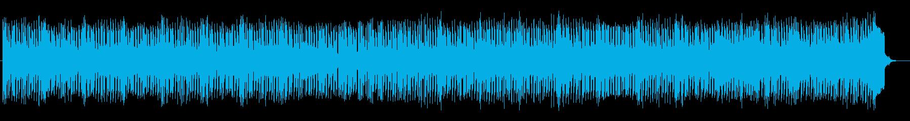 キラキラした音色のシンセミュージックの再生済みの波形