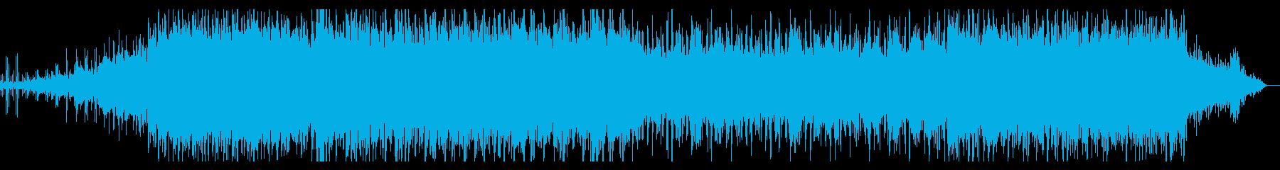 グリッジでサイバーなシネマアンビエントの再生済みの波形