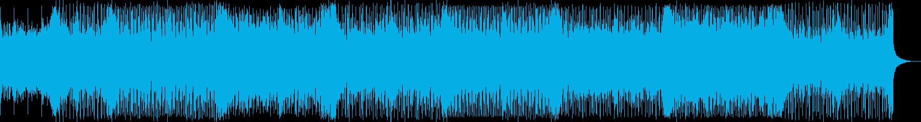 涼しい爽やかな風の流れの様なテクノ曲の再生済みの波形