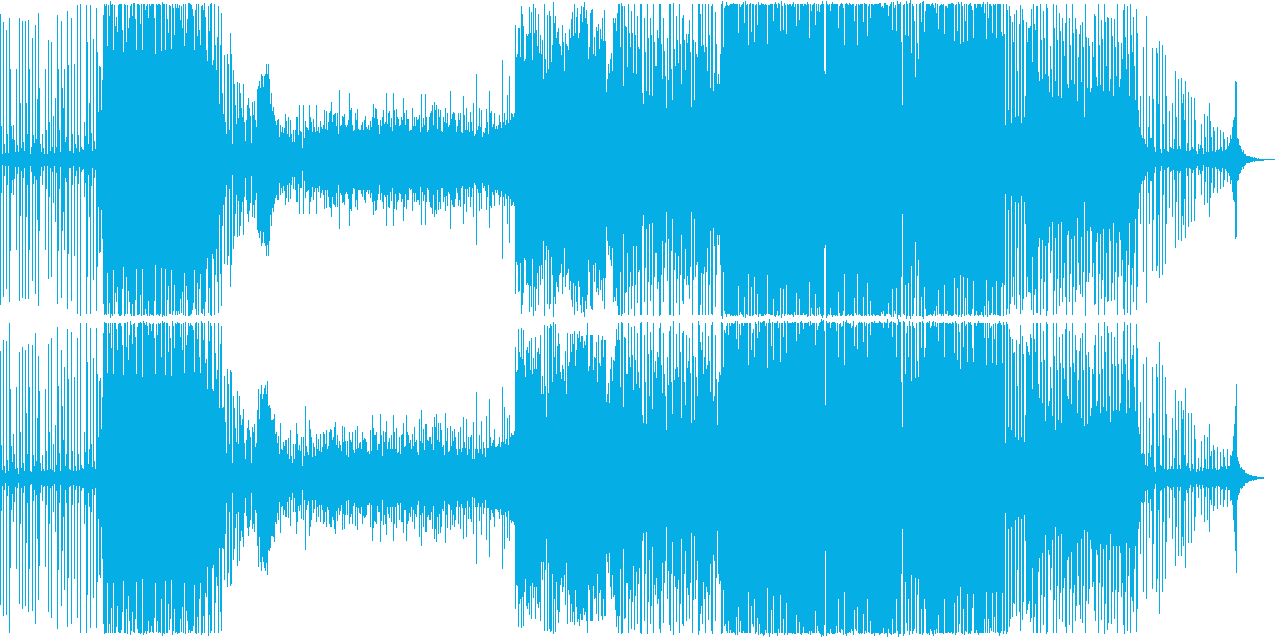 おしゃれで疾走感のある元気なEDMの再生済みの波形