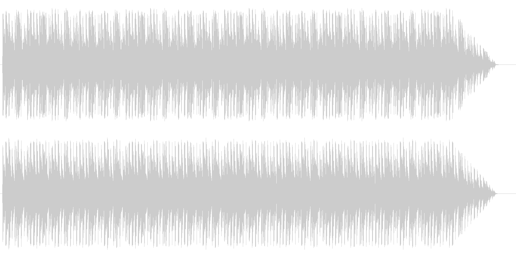 ほのぼのかわいいメロディの未再生の波形