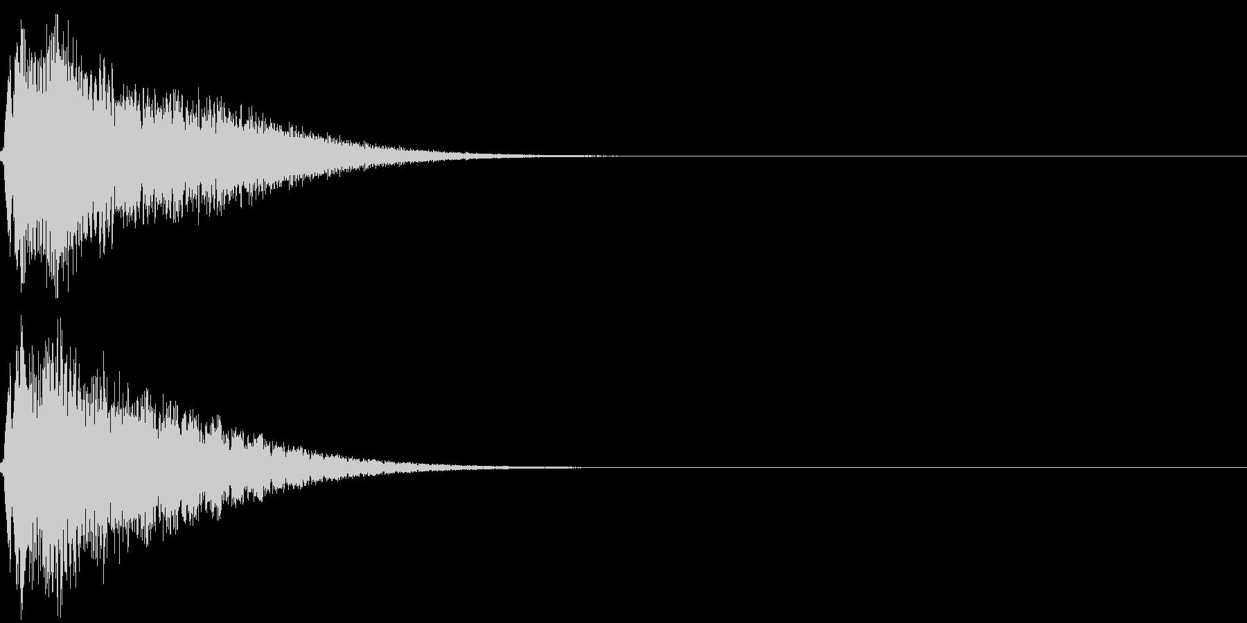 キュイン キーン シャキーン 光る 09の未再生の波形