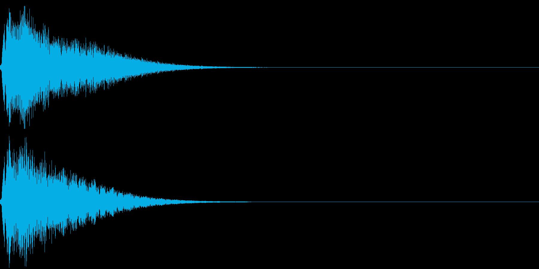 キュイン キーン シャキーン 光る 09の再生済みの波形