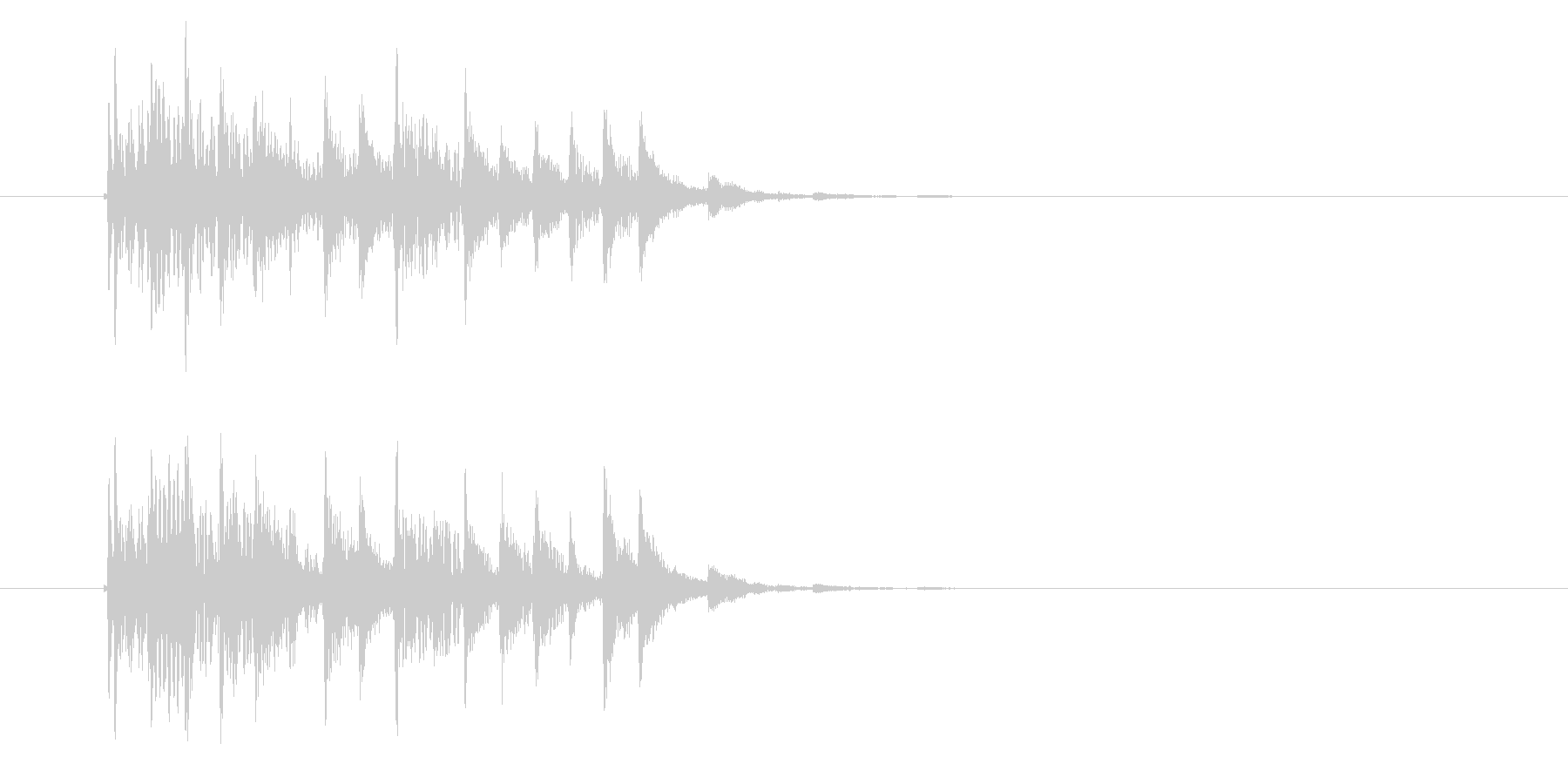 軽快でクールなテクノポップスのジングルの未再生の波形