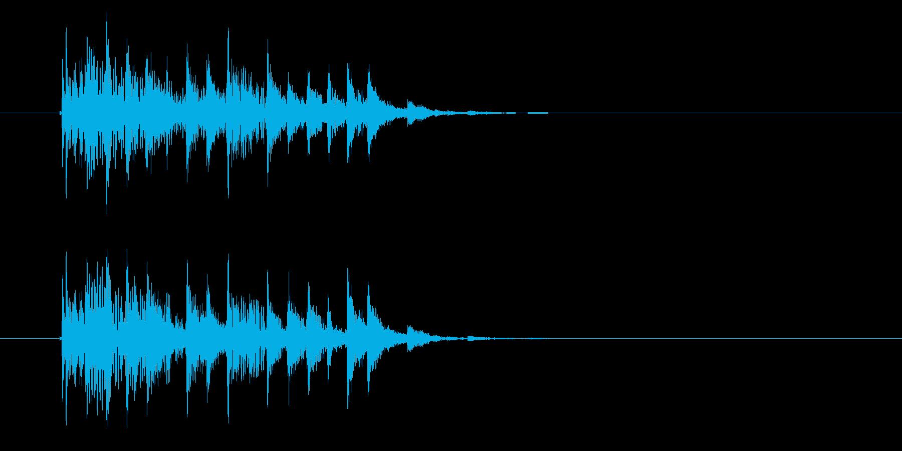 軽快でクールなテクノポップスのジングルの再生済みの波形