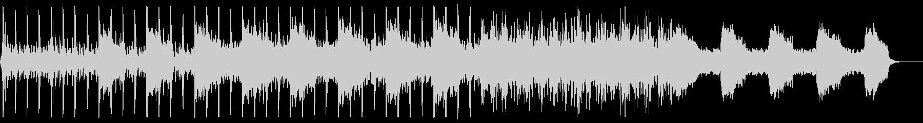 パーカッション主導のシンプルでダークな曲の未再生の波形
