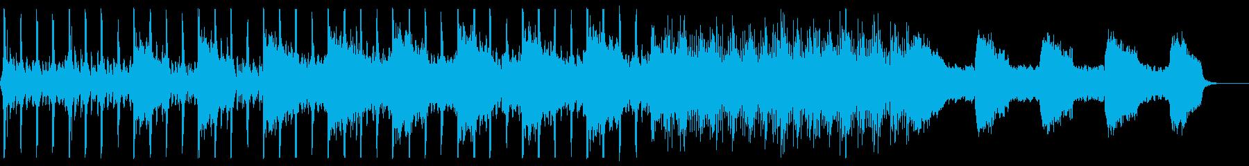 パーカッション主導のシンプルでダークな曲の再生済みの波形