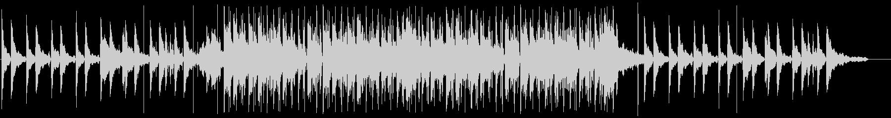 メロウで物憂げなピアノ、チルホップの未再生の波形