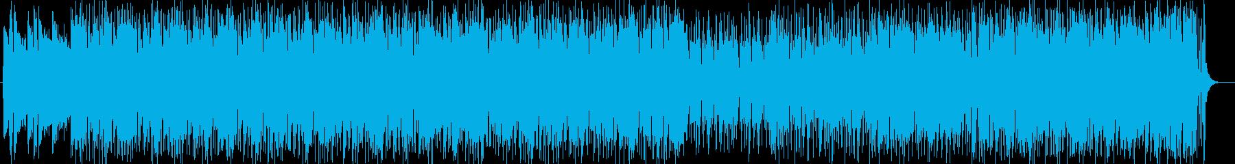 美しいメロディと和音のポップスの再生済みの波形