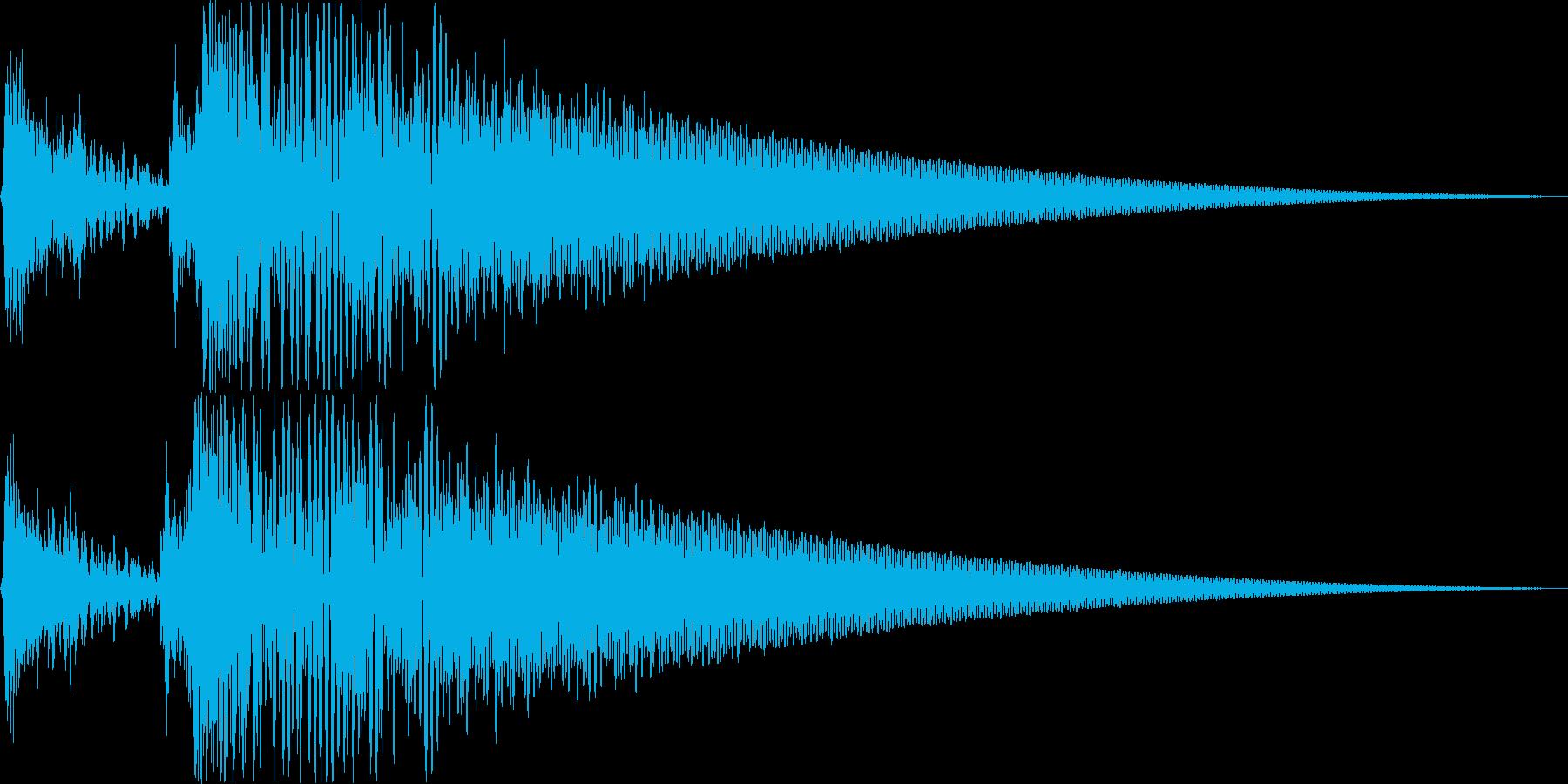 スポットライト点灯音_01_ステレオの再生済みの波形