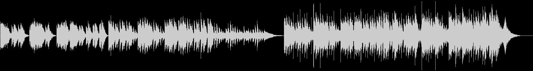 悪夢感満載のホラーミュージックの未再生の波形
