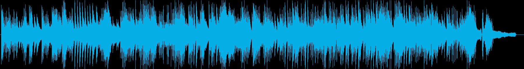 さりげなく使いやすい静かなピアノソBGMの再生済みの波形
