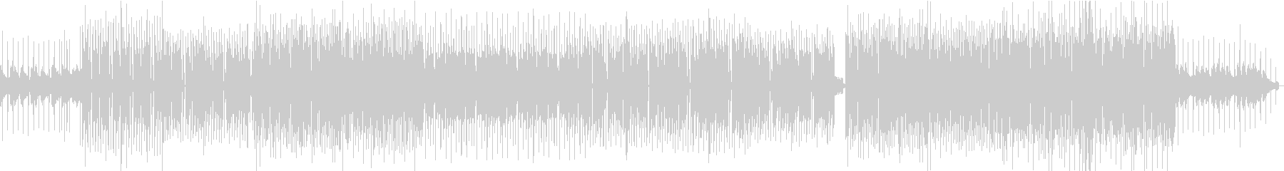 EDM系ダンスポップBGMの未再生の波形