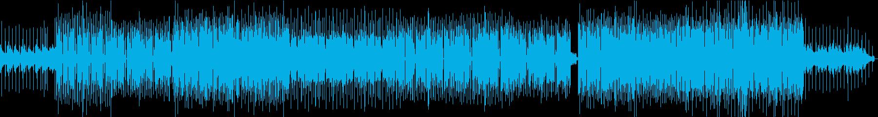 EDM系ダンスポップBGMの再生済みの波形
