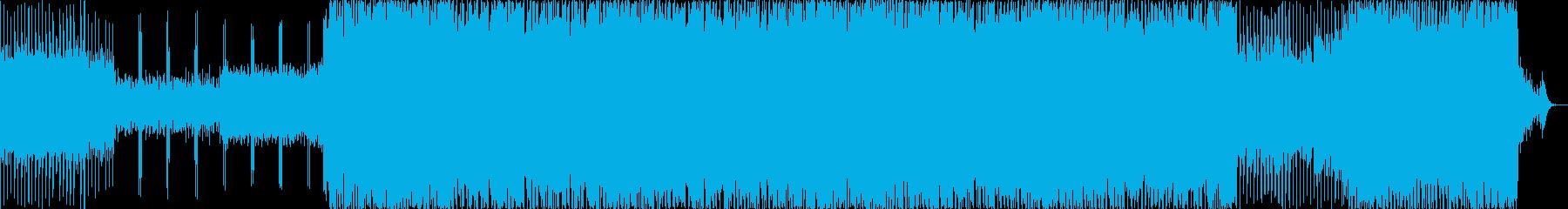 明るくノリのいい曲の再生済みの波形