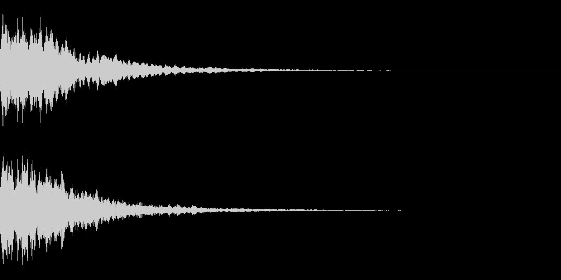 光系 ロゴ 速い チュインの未再生の波形