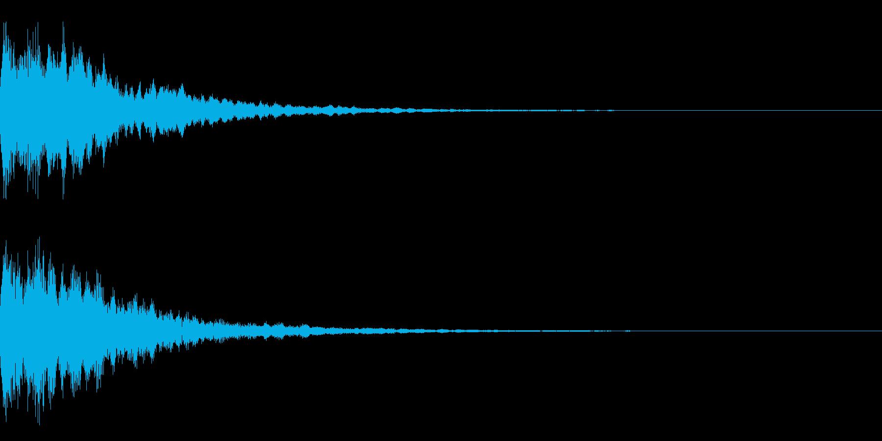 光系 ロゴ 速い チュインの再生済みの波形