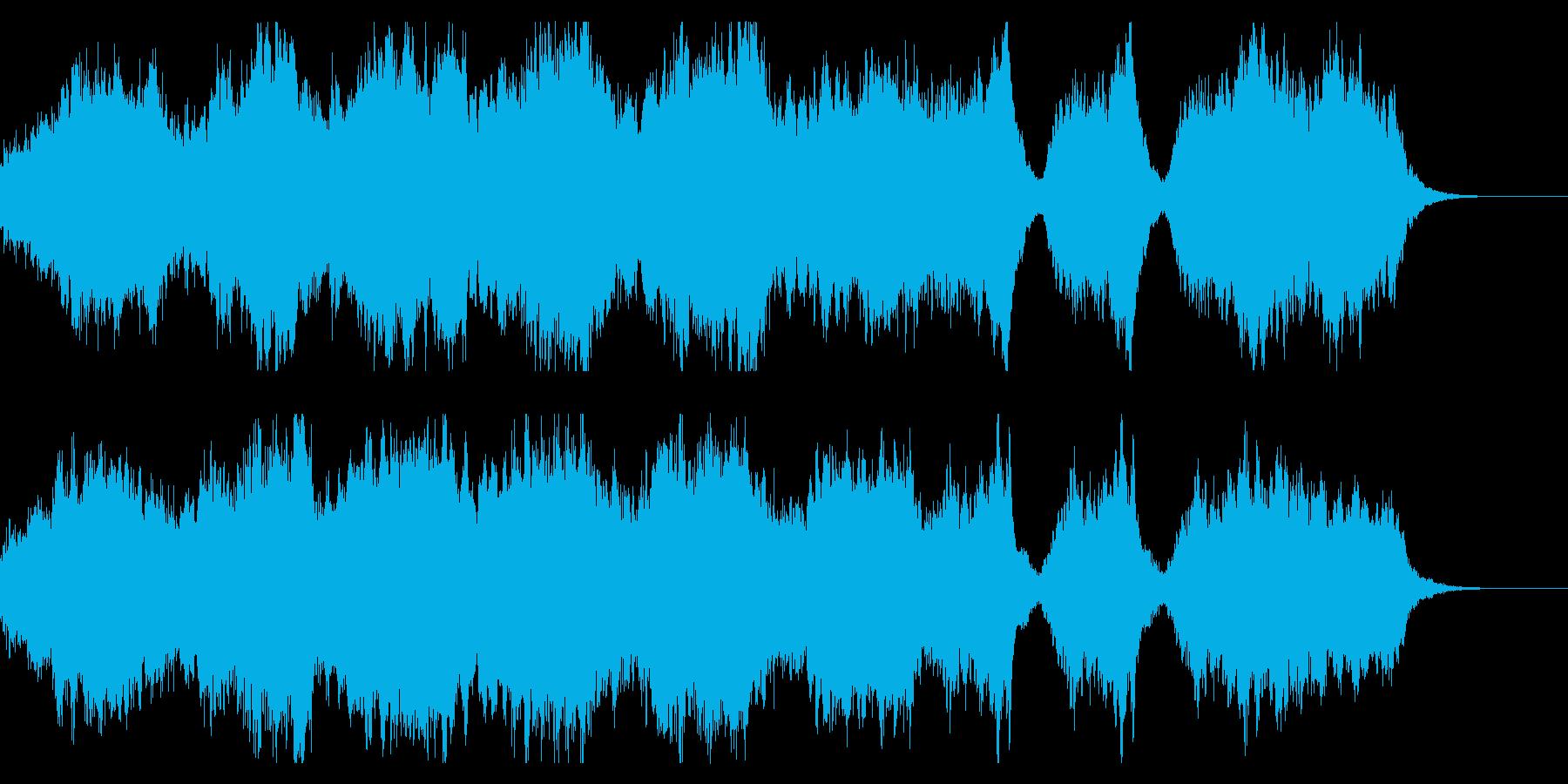 勇壮なファンタジー 短めのオーケストラ曲の再生済みの波形