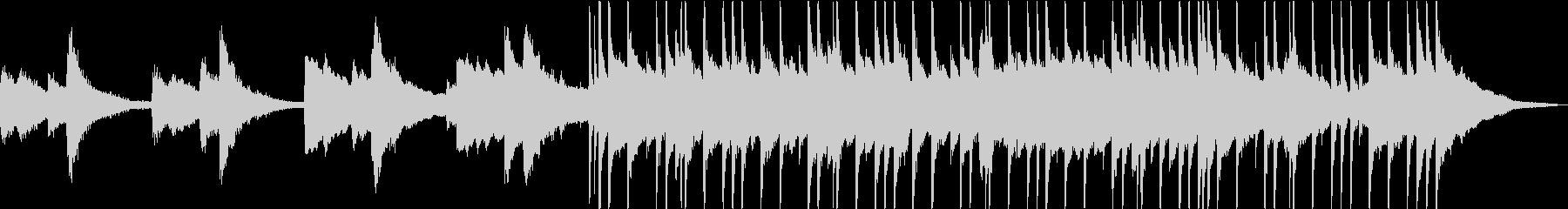 退廃的なイメージのロックポップスの未再生の波形