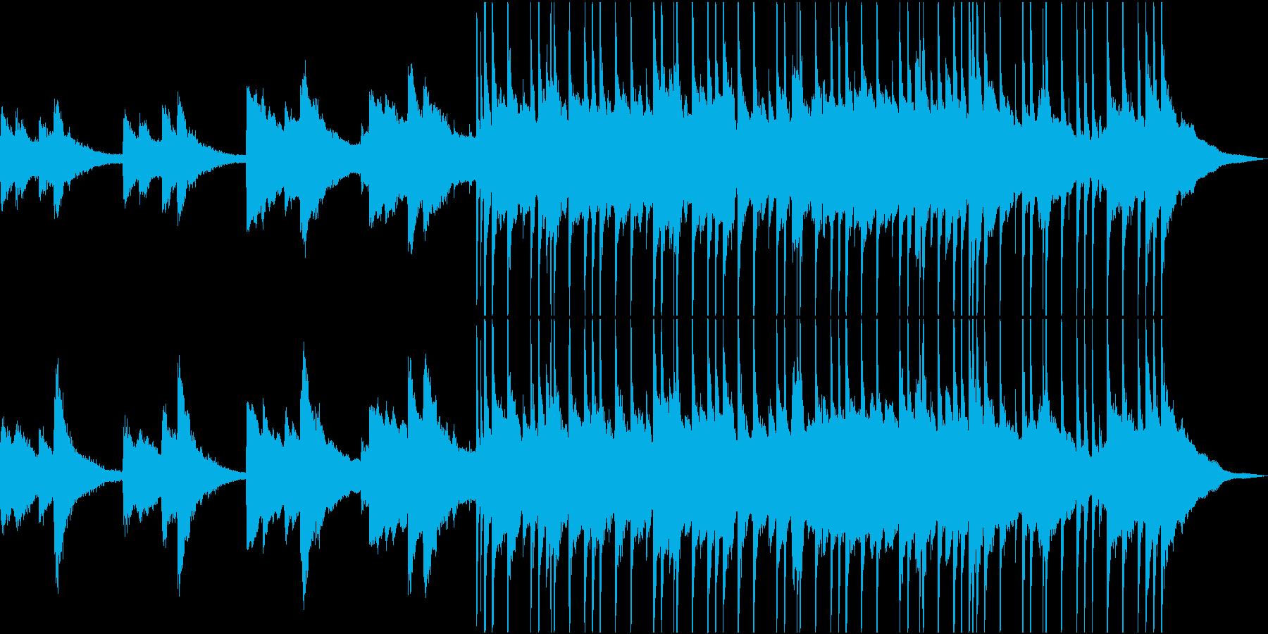 退廃的なイメージのロックポップスの再生済みの波形