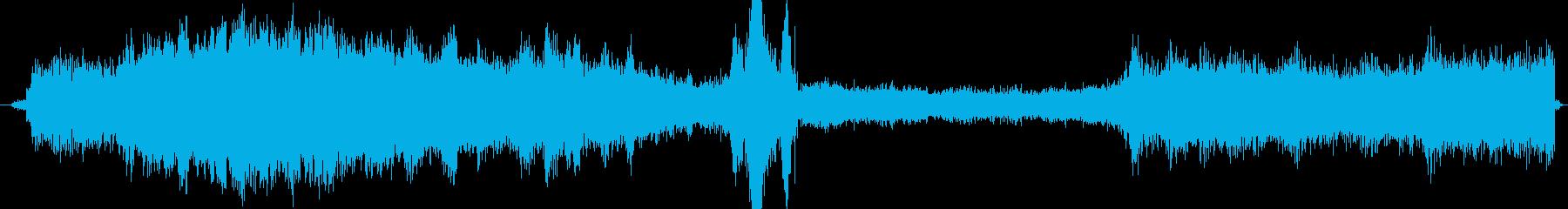 CPUの誤動作、破損したトーンの散...の再生済みの波形
