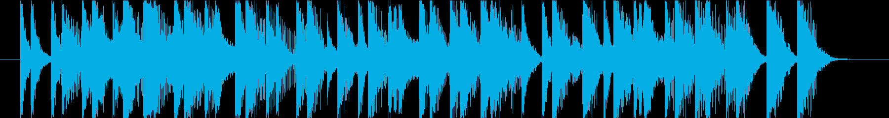 15秒CMの12 和風 お囃子 陽気の再生済みの波形