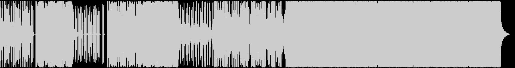カッコいいサイケデリックトランス風BGMの未再生の波形