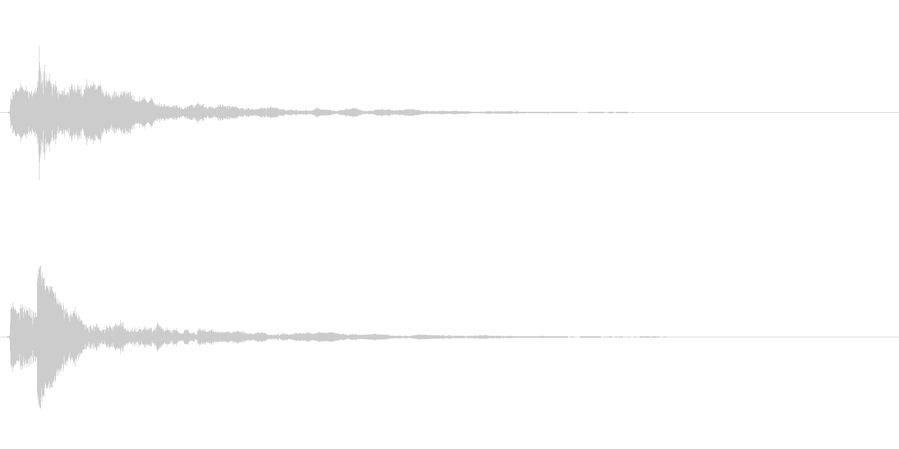 ピアノのワンショット効果音04の未再生の波形