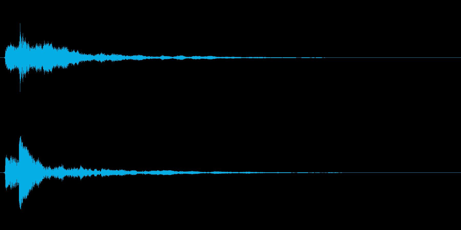 ピアノのワンショット効果音04の再生済みの波形